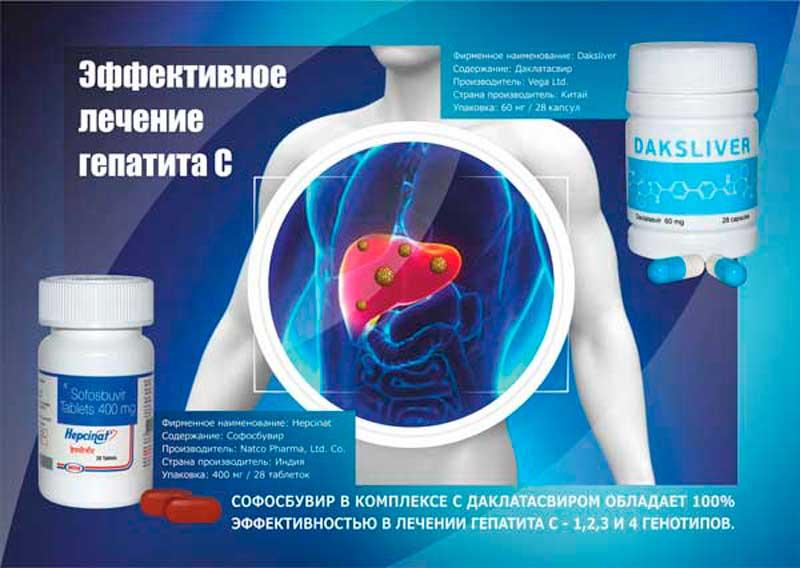 Какие лекарства принимать при гепатите с