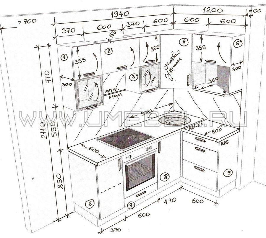 Дизайн проект кухни схема