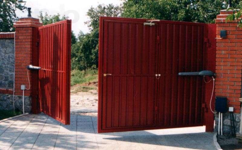 Распашные ворота самому автоматические ворота цена в ульяновске